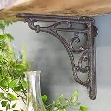 cast iron ornate shelf bracket 18 x