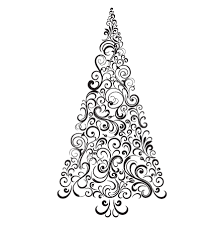Christmas Swirls Festive Swirls Christmas Tree Wall Quotes Decal