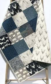 Nursery Bedding, Baby Boy Blanket, Buffalo Check Blue, Gift Ideas ... & Boy Quilt Buffalo Plaid Navy Blue Gray Elk Deer Baby Blanket Toddler  Bedding Woodlands Modern Lumberjack Adamdwight.com