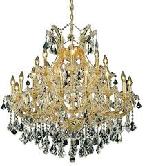 elegant lighting maria theresa 24 light crystal chandelier in gold