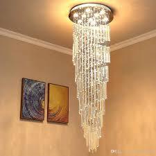 Großhandel Moderne K9 Kristall Spral Regentropfen Kronleuchter Beleuchtung Unterputz Led Deckenleuchte Für Esszimmer Badezimmer Schlafzimmer