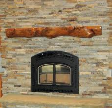 rustic wood fireplace mantel missouri