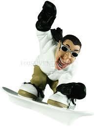 Дизайнерская <b>статуэтка</b> из мраморной крошки <b>Сноубордист</b> ...