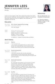 Perfect Nanny Resume Magdalene Project Org
