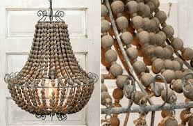 wooden bead chandelier chandeliers beaded chandelier dining room chandeliers elena wood bead chandelier pottery barn