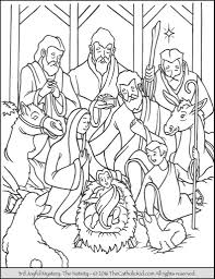 Free Nativity Coloring Pages For Kids Csengerilawcom