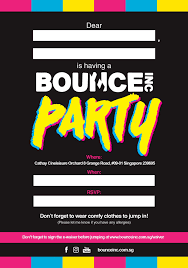 Photo Party Invitations Bounce Singapore Party Invites