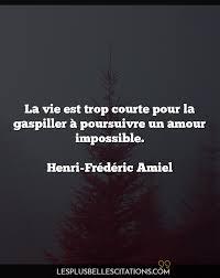La Vie Est Trop Courte Pour La Henri Frédéric Amiel Les Plus