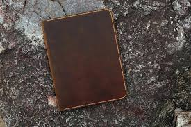 leather legal pad folder distressed large doent portfolio writing case vintage refillable organizer notebook cover