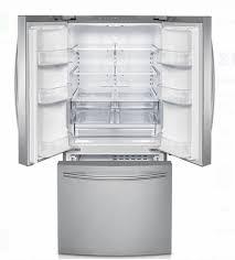 refrigerator 22 cu ft. rf220nctasr samsung 22 cu. ft. 30-inch french door refrigerator - stainless steel cu ft f