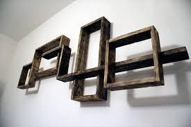 decorative pallet wall shelves unit