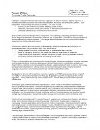 Example Of A Personal Profile On A Resume Sample Profile For Resume Example Resume Personal Profile Resume 48