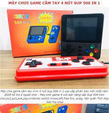 Máy chơi game cầm tay mini 4 nút Sup 500 in 1 cao cấp phiên bản mới nhất  năm 2020 hỗ trợ 2 người chơi - Máy chơi game 4 nút bản
