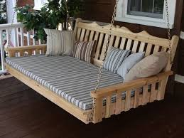 charming hanging bed plans and porch swing bed plans free jbeedesigns outdoor hanging porch
