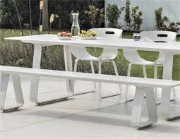 Alfresco Sled Base Dining Table Picnic Bench Chairs Metro Couture