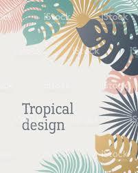 Mod Le De Feuille Tropique Dans Des Couleurs Pastel Feuilles De