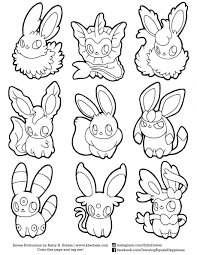 Eevee And Pikachu Coloring Pages From The Thousands Of Photographs