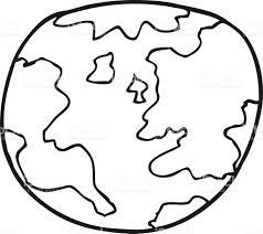 Noir Et Blanc Dessin Anim Plan Te Terre Cliparts Vectoriels Et