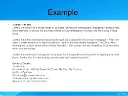 Business Brief Example Most Creative Bio Examples For Business Users Adobe Brief