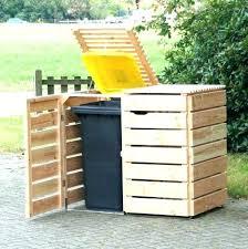 garbage can storage shed trash bin storage garbage bin storage medium size of patio outdoor storage
