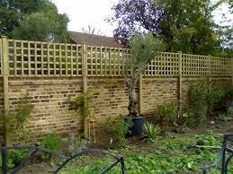 backyard fences trellis fence