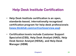 help desk insute certification customer support as a profession ppt