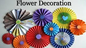Paper Rosette Flower Diy Wall Decorations How To Make Paper Rosette Flowers