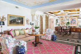 view in gallery beautiful living room with victorian panache and a dash of blue and pink design