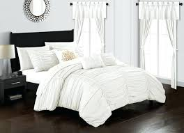 ruffled white comforter chic home piece comforter set color ruffled ruched design bed in a bag ruffled white comforter