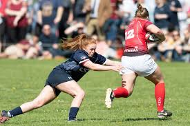 rose dixon going in for the tackle
