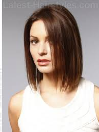 long face hairstyle straight bob cal brunette