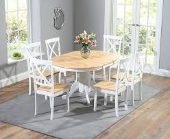 off white dining table room tables distressed chairs gallery and oak set washed din