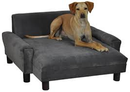 modern pet chaise lounge charcoal microfiber big dog furniture