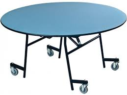 ez tilt mobile folding round cafeteria table