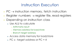 lec nov chapter cpu design data path design control logic  3 instruction