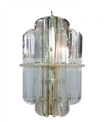 glass and lucite chandelier circa 1980s