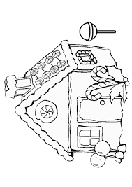 Small Picture Free Online Gingerbread House Colouring Page