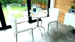 miami black glass dining table and 2 chairs breakfast s dining