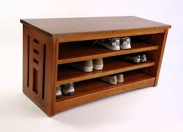 wood shoe storage bench