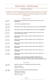 wauwatosa west high school varsity assistant coach girls basketball resume samples basketball coach resume sample