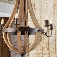 wine barrel lighting. Wooden Wine Barrel Stave Chandelier Light_wood Lighting