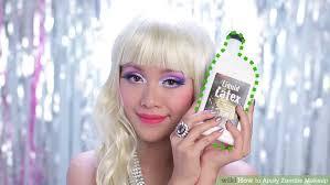 using liquid latex image led apply zombie makeup step 13