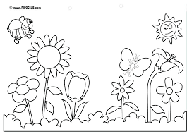 Coloring Pages Free Printable Spring Coloring Pages Sheets For