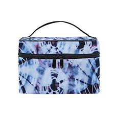 amazon xmcl indian tie dye portable cosmetic bag makeup organizer case multifunction toiletry bag for women s beauty