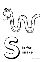 letter s coloring pages alphabet words in page