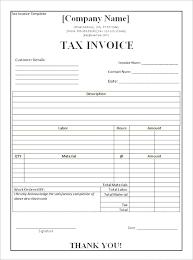 Tax Invoice Template Free Templates Pics Australia Download