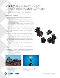 Hypro Push To Connect Nozzle Bodies And Fastcaps Fittings