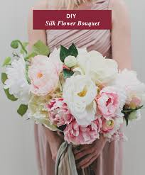 diy silk flower bouquet with afl