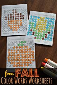 Posted in free printable, math. Free Fall Color Words Worksheets