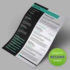 Details About Premium Resume Template Designs Predesigned Editable Cv Templates Pdf Format